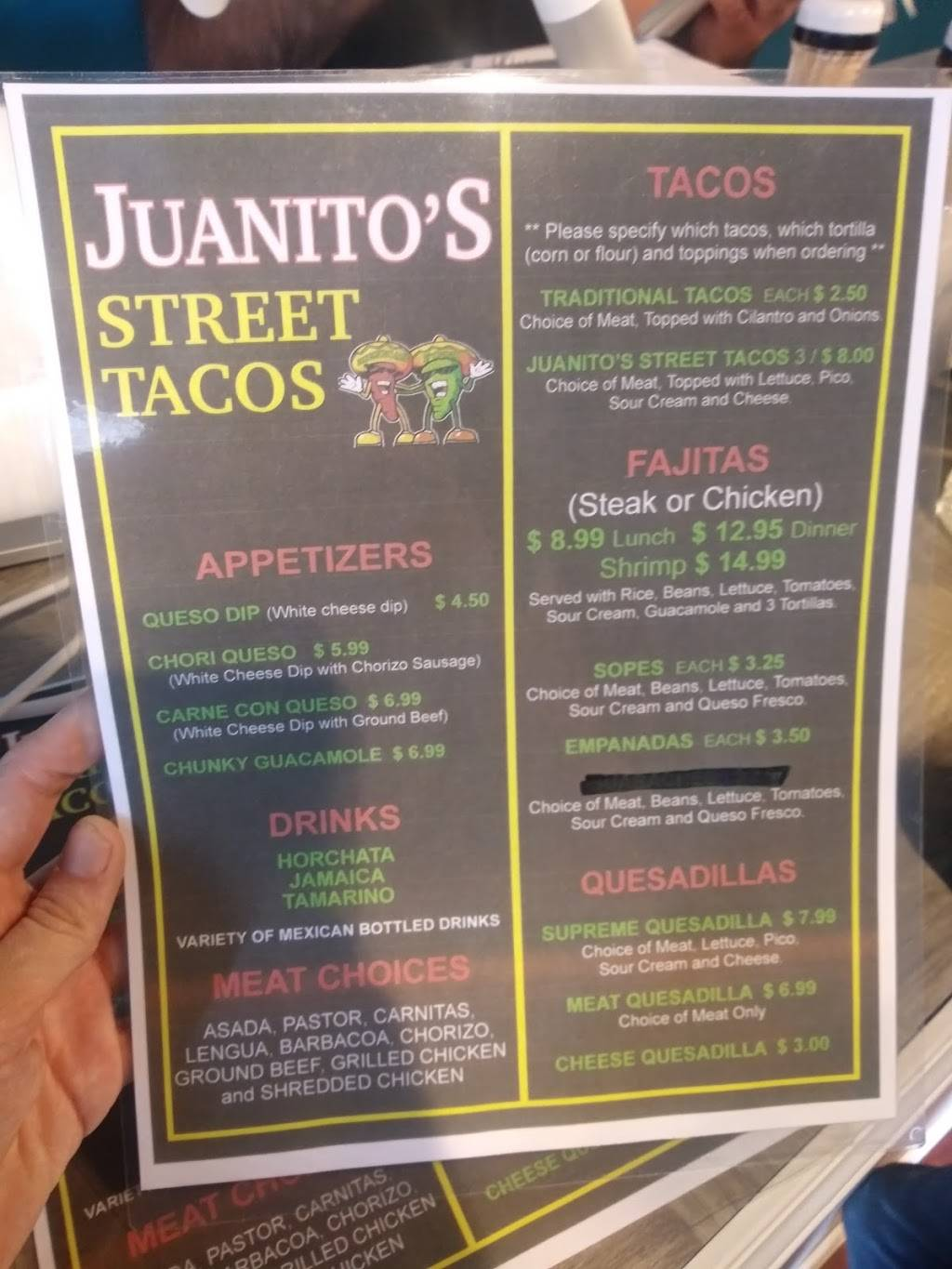 Juanitos Street Tacos | restaurant | 885 N Dixie Blvd, Radcliff, KY 40160, USA | 2708010010 OR +1 270-801-0010