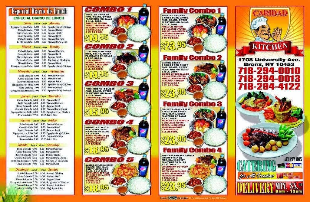Caridad Kitchen   restaurant   1708 University Ave, Bronx, NY 10453, USA   9173922174 OR +1 917-392-2174