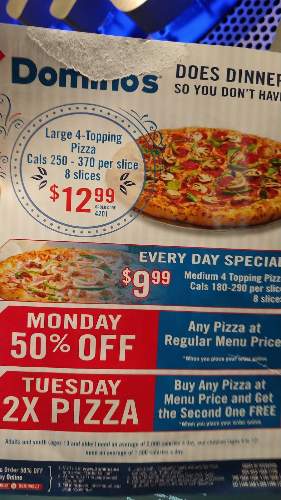 Dominos Pizza   meal delivery   50 King St S, Alliston, ON L9R 1H6, Canada   7054342020 OR +1 705-434-2020