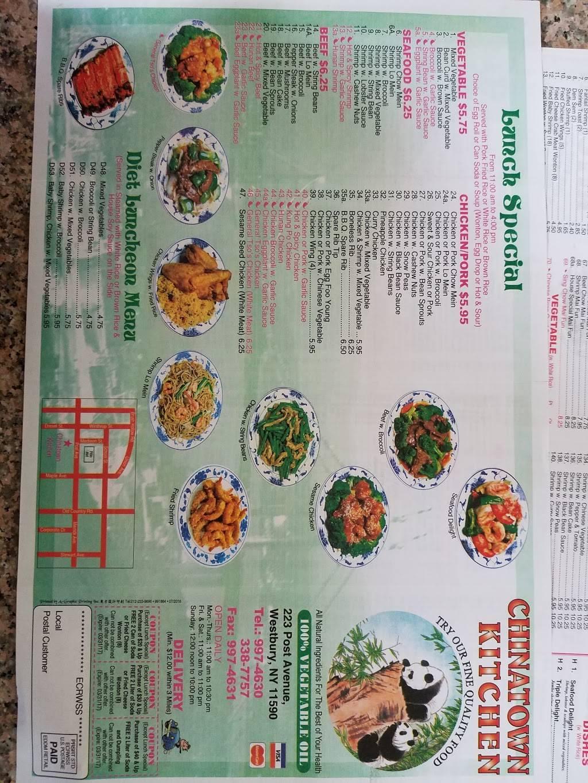 Chinatown Kitchen Restaurant 223 Post Ave Westbury Ny