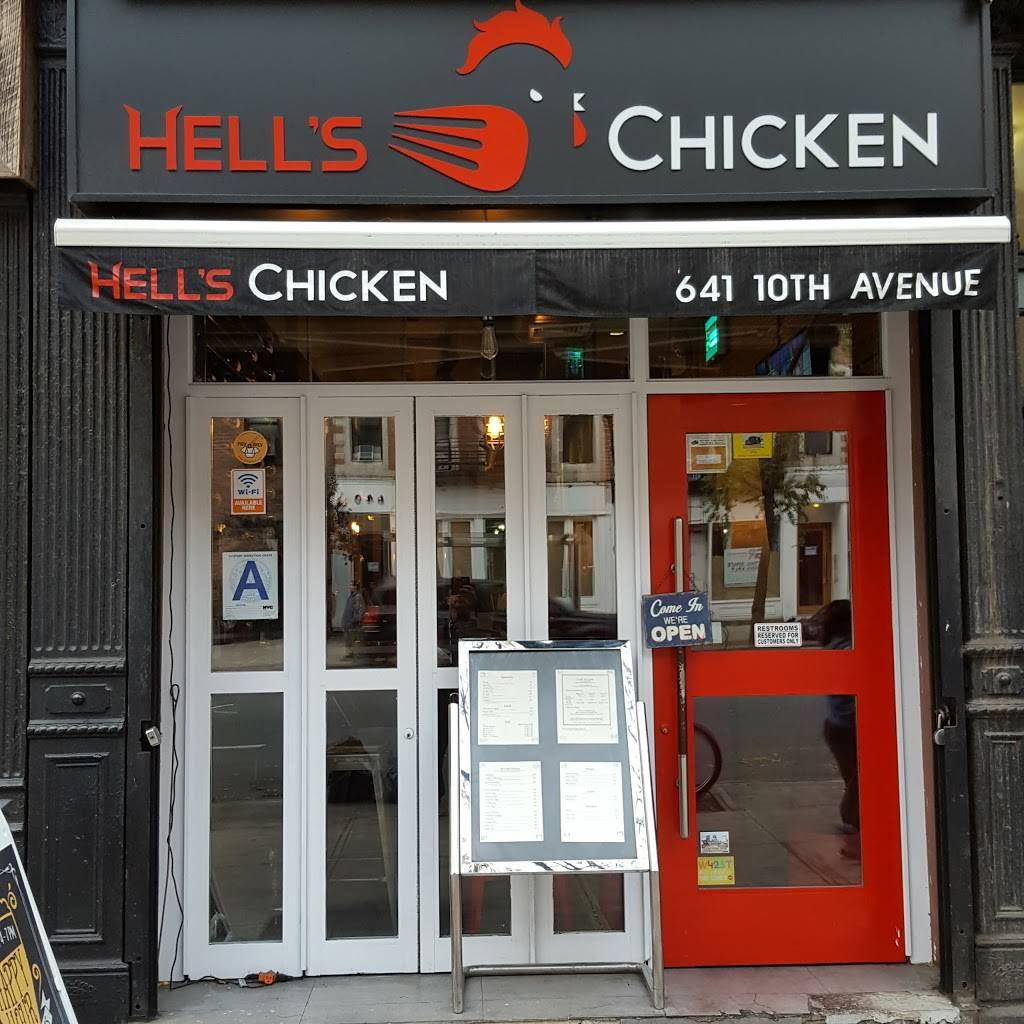 Hells Chicken | restaurant | 641 10th Ave, New York, NY 10036, USA | 2127571120 OR +1 212-757-1120