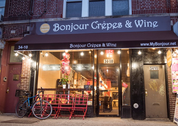 Bonjour Crepes & Wine | cafe | 34-10 30th Ave, Astoria, NY 11103, USA | 3477306828 OR +1 347-730-6828